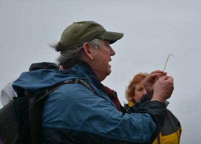 David explaining European Beach grass structure