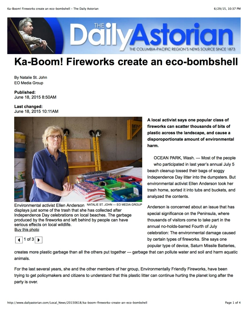Ka-Boom! Fireworks create an eco-bombshell - The Daily Astorian